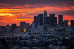 Susnet over Downtown Los Angeles