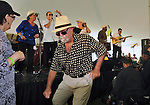 Members of the audience dancing to the music of the Zon del Barrio Orchestra, at the 2014 Jazz in the Valley Festival held in Waryas Park on the Hudson River front in Poughkeepsie, NY on Sunday August 17, 2014. Photo by Jim Peppler. Copyright Jim Peppler 2014 all rights reserved.