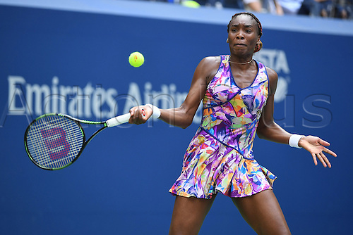 04.09.2016. Flushing Meadows, New York, USA. US Open 2016 Grand Slam tennis tournament.  Venus Williams (USA) loses to Pliskova (10) in 3 sets