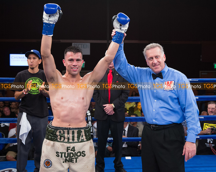 Francisco Santana defeated Luis Alfredo Lugo - Friday Night Fights at the Chumash Casino Resort & Spa in Santa Ynez, California, promoted by Gary Shaw Promotions - 15/08/14 - MANDATORY CREDIT: Dwight McCann/TGSPHOTO - Self billing applies where appropriate - 0845 094 6026 - contact@tgsphoto.co.uk - NO UNPAID USE