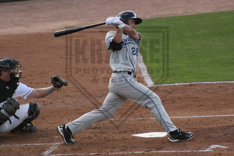 APPLETON - JULY 2011: Rob Brantly (28) of the West Michigan WhiteCaps, Class-A affiliate of the Detroit Tigers during a game on July 13, 2011 at Time Warner Cable Field at Fox Cities Stadium in Appleton, Wisconsin. (Photo by Brad Krause)