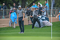 Martin Kaymer (GER) looks over his chip shot on 18 during day 3 of the Valero Texas Open, at the TPC San Antonio Oaks Course, San Antonio, Texas, USA. 4/6/2019.<br /> Picture: Golffile | Ken Murray<br /> <br /> <br /> All photo usage must carry mandatory copyright credit (&copy; Golffile | Ken Murray)