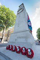 Picture by Allan McKenzie/SWpix.com - 25/08/2017 - Rugby League - Commemorative wreath laying ceremony - The Cenotaph, London, England - Wreaths laid at the Cenotaph in London prior to the Rugby League Challenge Cup final.