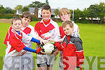 St Pats Blennerville GAA Cul Camp on Friday. Pictured l-r: Daragh Gallagher, Teddy Moynihan, Daire Kennelly, David White and Andrew Shaw..