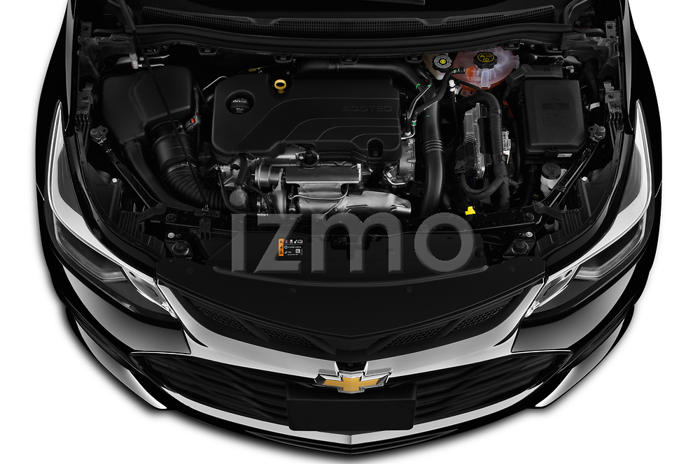 Car Stock 2019 Chevrolet Cruze LT 4 Door Sedan Engine  high angle detail view
