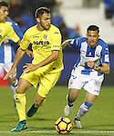 CD Leganes' Luciano Neves (r) and Villarreal CF's Victor Ruiz during La Liga match. December 3,2016. (ALTERPHOTOS/Acero)
