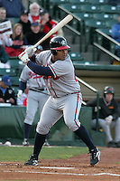 Richmond Braves Brayan Pena during an International League game at Frontier Field on April 17, 2006 in Rochester, New York.  (Mike Janes/Four Seam Images)