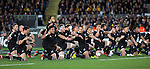 HakaAll Blacks beat Australia 22-0. Eden Park, Auckland. 25 August 2012. Photo: Marc Weakley