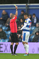 Massimo Luongo of Queens Park Rangers is booked during Queens Park Rangers vs Derby County, Sky Bet EFL Championship Football at Loftus Road Stadium on 6th October 2018