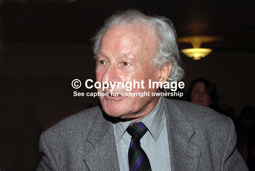 Irish rugby legend Jack Kyle photographed at a function at Queen's Univerity, Belfast, N Ireland, UK. The highlight of his Ireland career came during the 1948 Five Nations Championship when, together with Karl Mullen and Mick O'Flanagan, he helped Ireland win a grand slam. 200912023179.<br /> <br /> Copyright Image from Victor Patterson,<br /> 54 Dorchester Park, Belfast, UK, BT9 6RJ<br /> <br /> t1: +44 28 90661296<br /> t2: +44 28 90022446<br /> m: +44 7802 353836<br /> <br /> e1: victorpatterson@me.com<br /> e2: victorpatterson@gmail.com<br /> <br /> For my Terms and Conditions of Use go to<br /> www.victorpatterson.com