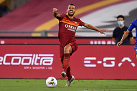 Leonardo Spinazzola of AS Roma in action during the Serie A football match between AS Roma and ACF Fiorentina at stadio Olimpico in Roma (Italy), July 26th, 2020. Play resumes behind closed doors following the outbreak of the coronavirus disease. <br /> Photo Antonietta Baldassarre / Insidefoto