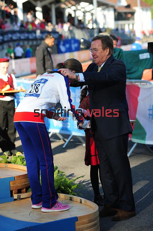 IPC European Athletics Championship 2014<br /> Swansea University<br /> <br /> Medal ceremony: Women's 400m T38.<br /> <br /> 22.08.14<br /> Chris Vaughan-SPORTINGWALES