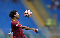 Calcio, Serie A: Roma vs Sampdoria. Roma, stadio Olimpico, 11 settembre 2016.<br /> Roma&rsquo;s Mohamed Salah controls the ball during the Italian Serie A football match between Roma and Sampdoria at Rome's Olympic stadium, 11 September 2016. Roma won 3-2.<br /> UPDATE IMAGES PRESS/Isabella Bonotto