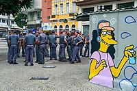 Soldados da policia militar, largo Paissandu, Sao Paulo. 2018. Foto © Juca Martins.