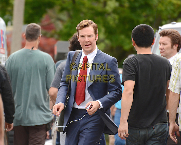 July 15, 2014, Lynn, MA.: Benedict Cumberbatch filming on the set of 'Black Mass' in Lynn, Massachusetts, USA.<br /> CAP/MPI/RTNROSE<br /> &copy;RTNRose/MediaPunch/Capital Pictures