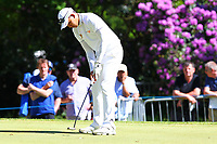 Phachara Khongwatmai sinks his putt on the 16th green during the BMW PGA Golf Championship at Wentworth Golf Course, Wentworth Drive, Virginia Water, England on 26 May 2017. Photo by Steve McCarthy/PRiME Media Images.