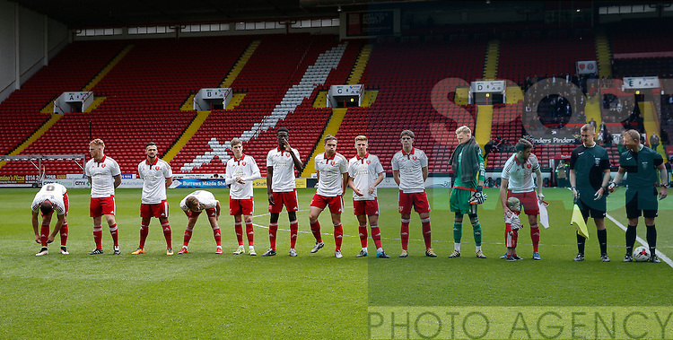 Sheffield Utd team during the PDL U21 Final at Bramall Lane Sheffield. Photo credit should read: Simon Bellis/Sportimage