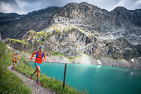 A trail running tour from Iffigenalp, near Lenk, Switzerland that crosses into the Valais before returning. Passing the Iffigsee.