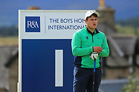 Charlie Denvir of Ireland during the Boys' Home Internationals played at Royal Dornoch, Dornoch, Sutherland, Scotland. 07/08/2018<br /> Picture: Golffile | Phil Inglis<br /> <br /> All photo usage must carry mandatory copyright credit (&copy; Golffile | Phil Inglis)