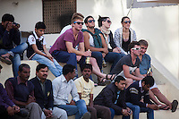 Australian and Indian spectators watch the game between the Royal Jaipur Polo Team and the Western Australia Polo Team for the Argyle Pink Diamond Cup, organised as part of the 2013 Oz Fest in the Rajasthan Polo Club grounds in Jaipur, Rajasthan, India on 10th January 2013. Photo by Suzanne Lee
