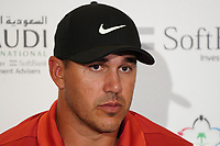 Brooks Koepka (USA) during the Preview of the Saudi International at the Royal Greens Golf and Country Club, King Abdullah Economic City, Saudi Arabia. 28/01/2020<br /> Picture: Golffile | Thos Caffrey<br /> <br /> <br /> All photo usage must carry mandatory copyright credit (© Golffile | Thos Caffrey)