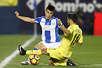 CD Leganes' Unai Bustinza (l) and Villarreal CF's Jaume Costa during La Liga match. December 3,2016. (ALTERPHOTOS/Acero)