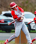WASHINGTON,  CT-041819JS10- Northwester's Drew Warren (21) fouls off a pitch while batting during their game against Shepaug Thursday at Tex Alex Field in Washington.  <br /> Jim Shannon Republican American