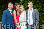 Shane Collier, Triona Clifford, Megan Reddan and Shane Moynihan enjoying the Killarney Schools Debs at the Earl of Desmond Hotel on Monday