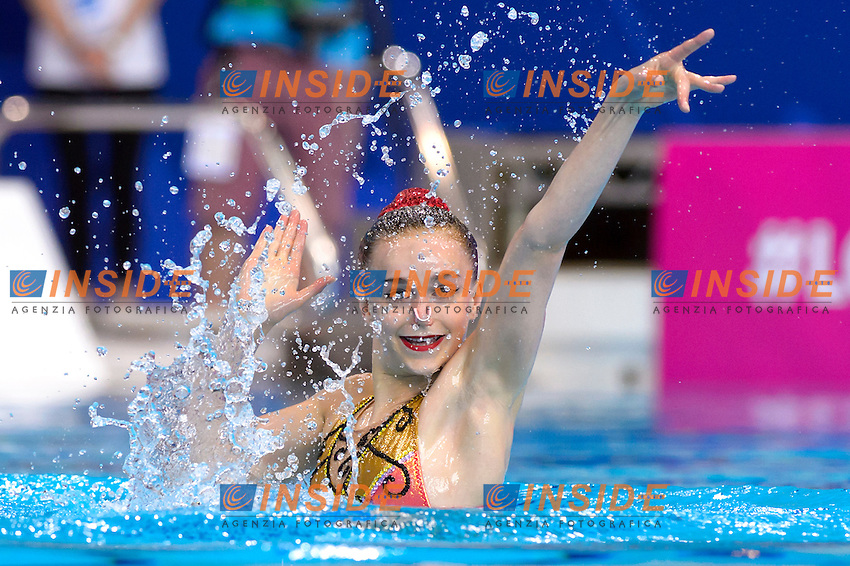Kate SHORTMAN GBR Great Britain <br /> pre swimmer<br /> Solo Free<br /> London, Queen Elizabeth II Olympic Park Pool <br /> LEN 2016 European Aquatics Elite Championships <br /> Synchronized Swimming  <br /> Day 01 09-05-2016<br /> Photo Andrea Staccioli/Deepbluemedia/Insidefoto