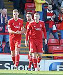 03.03.2019 Aberdeen v Rangers: Sam Cosgrove takes the acclaim