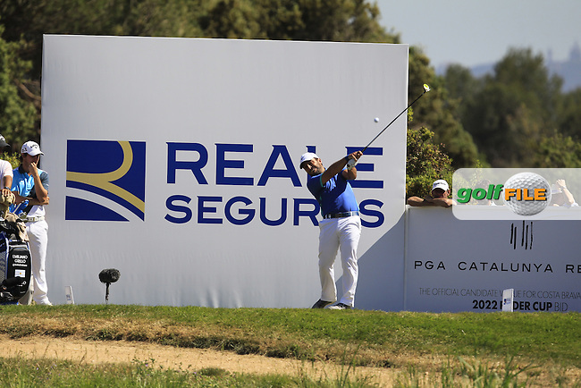 Francisco Molinari (ITA) o the 17th tee during Round 4 of the Open de Espana  in Club de Golf el Prat, Barcelona on Sunday 17th May 2015.<br /> Picture:  Thos Caffrey / www.golffile.ie