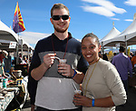 Nick and Tarrayna during the Beer and Chili Festival at the Grand Sierra Resort in Reno, Nevada on Saturday, Oct. 21, 2017.