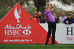 Charl Schwartzel teeing off on the 9th on day two of the Abu Dhabi HSBC Golf Championship 2011, at the Abu Dhabi golf club, UAE. 21/1/11..Picture Fran Caffrey/www.golffile.ie.