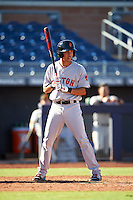 Surprise Saguaros Mauricio Dubon (5), of the Boston Red Sox organization, during a game against the Peoria Javelinas on October 12, 2016 at Peoria Stadium in Peoria, Arizona.  The game ended in a 7-7 tie after eleven innings.  (Mike Janes/Four Seam Images)