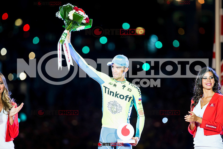 Alberto Contador win the award of more combative cyclist La Vuelta a España 2016 in Madrid. September 11, Spain. 2016. (ALTERPHOTOS/BorjaB.Hojas) NORTEPHOTO.COM