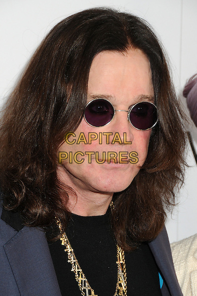 "Ozzy Osbourne.LA Gay & Lesbian Center's ""An Evening With Women"" 2013 held at the Beverly Hilton Hotel, Beverly Hills, California, USA, 18th May 2013..portrait headshot round shades sunglasses gold necklaces .CAP/ADM/BP.©Byron Purvis/AdMedia/Capital Pictures"