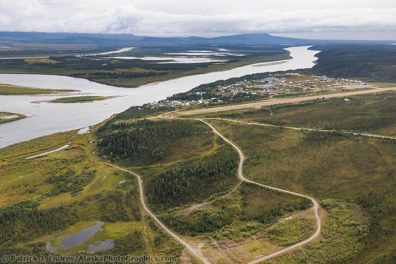 The village of Kiana located on the Kobuk River in Alaska's Arctic