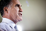 GOP presidential candidate Gov. Mitt Romney speaks at a campaign rally at EIT LLC, and electronics design and manufacturing company, in Sterling, Virginia, June 27, 2012.