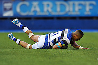 Anthony Watson scores a try for Bath. Amlin Challenge Cup Final, between Bath Rugby and Northampton Saints on May 23, 2014 at the Cardiff Arms Park in Cardiff, Wales. Photo by: Patrick Khachfe / Onside Images
