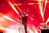 THE PRODIGY - Keith Flint - performing live at the Arena in Birmingham UK - 10 Nov 2018.  Photo credit: Tony Woolliscroft/IconicPix