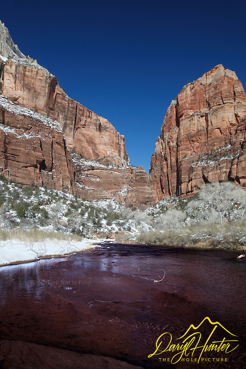 Virgin River, Winter, Zion National Park