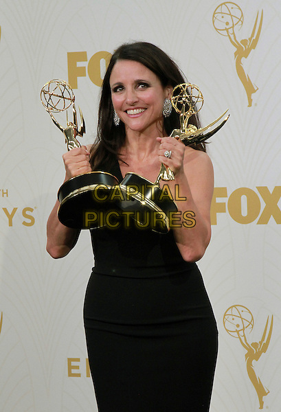 20 September 2015 - Los Angeles, California -  Julia Louis-Dreyfus. 67th Annual Primetime Emmy Awards Press Room held at Microsoft Theater. <br /> CAP/ADM/THB<br /> &copy;THB/ADM/Capital Pictures