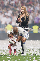 Real Madrid Carlos Henrique Casemiro with his girlfriend, Anna Marian Ortega and daughter during the celebration of the 12th UEFA Championship won by Real Madrid  at Santiago Bernabeu Stadium in Madrid, June 04, 2017. Spain.<br /> Foto ALTERPHOTOS/BorjaB.Hojas/Insidefoto