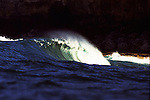 A heavy wave known as Winki Pop goes unridden, Sydney, Australia.