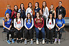The 2017 Newsday All-Long Island girls volleyball team poses for a group portrait at company headquarters on Monday, Dec. 11, 2017. Appearing are, FRONT ROW, FROM LEFT: Madison Gale of Kellenberg, Cassandra Patsos of Connetquot, Mia Cergol of Glenn, Erika Benson of Kings Park, Nicole Migliozzi of Connetquot and Grace Rosenberg of Long Beach. BACK ROW, FROM LEFT: Coach Cathy von Schoenermarck of Kellenberg, Meagan Murphy of Kings Park, Kathleen Doherty of Massapequa, Mackenzie Cole of Connetquot, Caroline Lanzillotta of South Side, Julia Beckmann of Garden City, Abbey Dummler of Commack and Coach Justin Hertz of Connetquot.