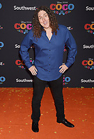 LOS ANGELES, CA - NOVEMBER 08: Actor Weird Al Yankovic arrives at the premiere of Disney Pixar's 'Coco' at El Capitan Theatre on November 8, 2017 in Los Angeles, California.<br /> CAP/ROT/TM<br /> &copy;TM/ROT/Capital Pictures
