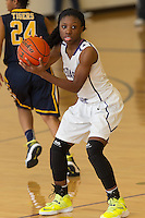 Cedar Ridge Raider Monae Smith in play action against Stony Point Saturday at Cedar Ridge.  The Raiders beat the Tigers 66-58.  (LOURDES M SHOAF for Round Rock Leader.)