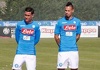 presentazione della nuova maglia nel ritiro precampionato del  Napoli nel ritiro di  Dimaro  <br /> 11 luglio 2017