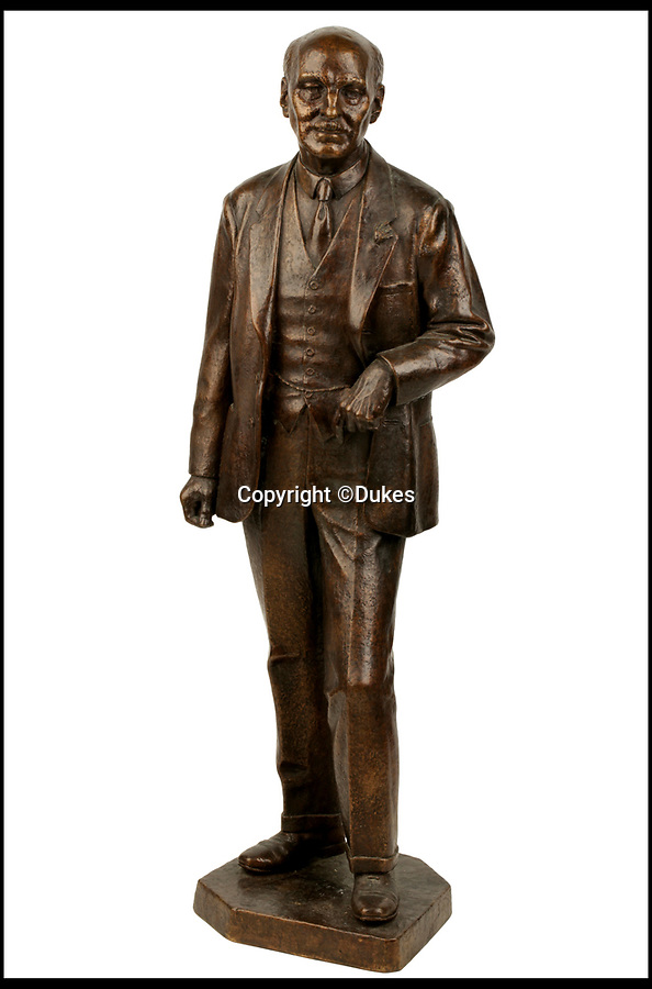 BNPS.co.uk (01202 558833)<br /> Pic: Dukes/BNPS<br /> <br /> Bronze statue of Prime Minister and Leader of the Labour party Clement Atlee, who defeated Edward du Cann in the 1951 General Election.   Estimated £400.<br /> <br /> The collection of an influential politician who helped bring Thatcher to power is going under the hammer and expected to fetch more than £86,000.<br /> <br /> More than 100 items owned by the late Sir Edward du Cann, including a rare maquette of Winston Churchill worth £50,000, have been put up for sale by his family with Duke's of Dorchester in Dorset following his death last year.<br /> <br /> Sir Edward was an MP for 31 years and the longest serving chairman of the powerful 1922 committee, where he was instrumental in bringing Margaret Thatcher to power in 1979, and his name was never far from the front pages of the national newspapers in the 1960s and 70s.<br /> <br /> Among the items being sold are several bronze sculptures of Prime Ministers Winston Churchill, Margaret Thatcher and Clement Atlee.<br /> <br /> The collection will be sold in the Dorchester saleroom on September 6.