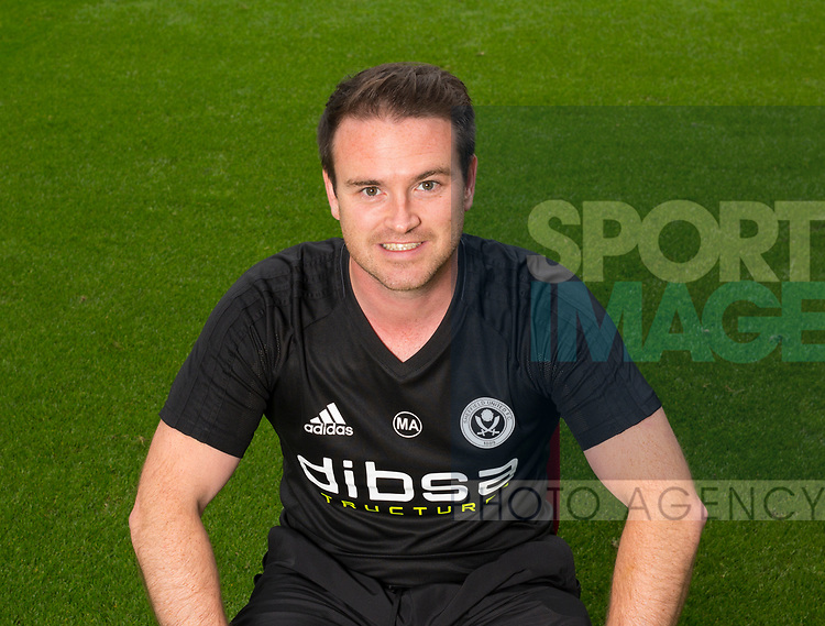 Mike Allen of Sheffield Utd during the 2017/18 Photocall at Bramall Lane Stadium, Sheffield. Picture date 7th September 2017. Picture credit should read: Sportimage